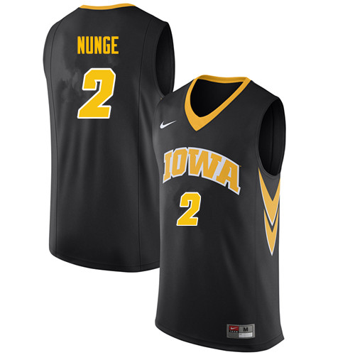 Men #2 Jack Nunge Iowa Hawkeyes College Basketball Jerseys Sale-Black