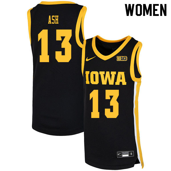 2020 Women #13 Austin Ash Iowa Hawkeyes College Basketball Jerseys Sale-Black