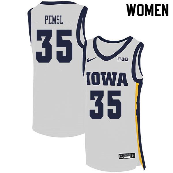 2020 Women #35 Cordell Pemsl Iowa Hawkeyes College Basketball Jerseys Sale-White